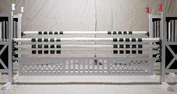 """18""""x 12' White Aluminum Gate"""