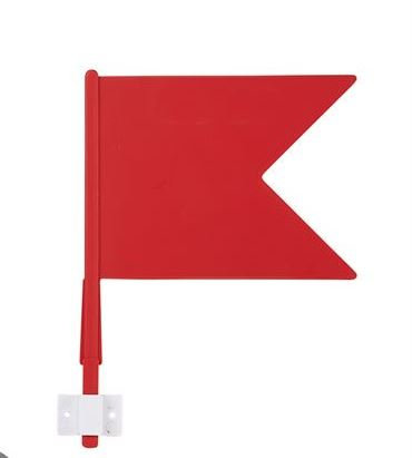 Flags - set of 30 (15 red 15 white)