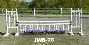 JWB-76 Birch rails, flowers, picket gate, rail and gates