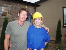With Ty Pennington on the set of Extreme Makeover, Home Edition, for ABC.  Colorado.  My business was a full episode Sponsor.