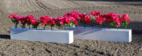 Western Trail Flower Box with Flowers