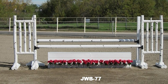 JWB-77 Birch rails, flower boxes, flowers, schools and wings