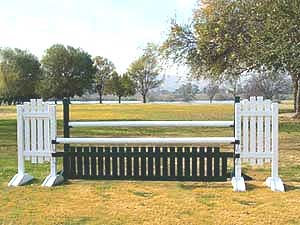 JWB-21 Oxer with Picket Gate