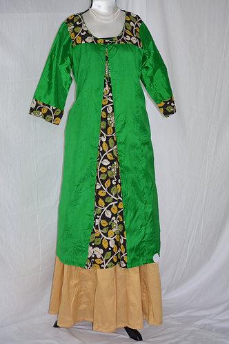 Green silk kurti