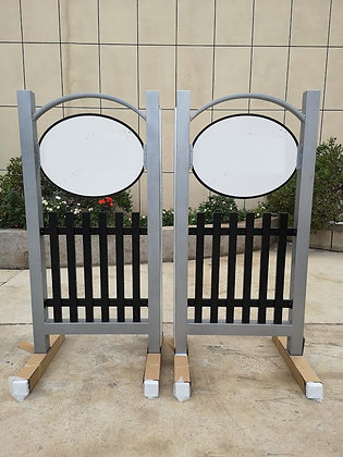 6' Signature Picket Powder Coated Aluminum Wings Set