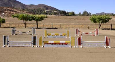 10' Complete Aluminum Hunter or Jumper Course (6 jumps)