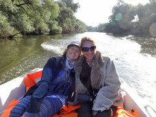 Danube Delta, Romania, with Shirley Cherry from Stratford-on-Avon, England.