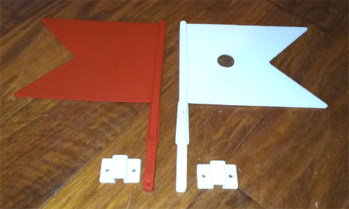 Flags - set of 2 - one red, one white