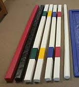 Square foam training rail striped color