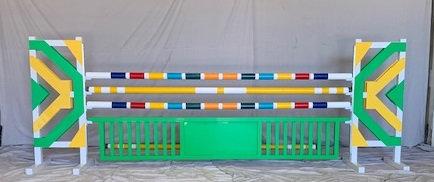 12' Aluminum Picket gate w. center panel