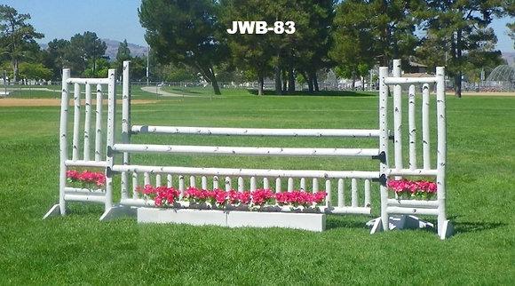 JWB-83 Birch rails, flowers, picket gate, rails, wings and schools