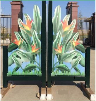 6' Floral wing (Powder coated Aluminum)