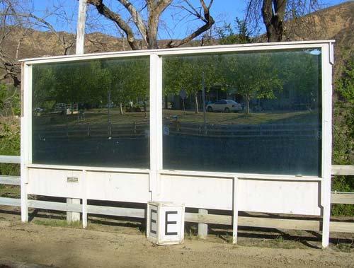 4' (w) x 8' (l) arena mirror