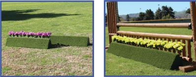 Poly Turf Triangle Flower Box