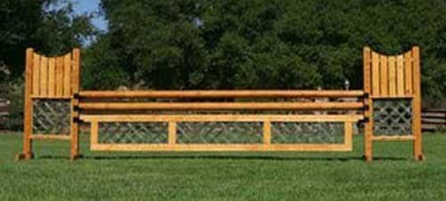 10' Natural lacquer & Green Lattice gate