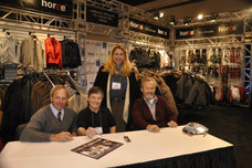 With all three of the greatest Triple Crown winner jockeys, the only time they were in one place together, for the World Equestrian Games, Kentucky, 2010.  Steve Cauthen, Jean Cruguet, Ron Turcotte.