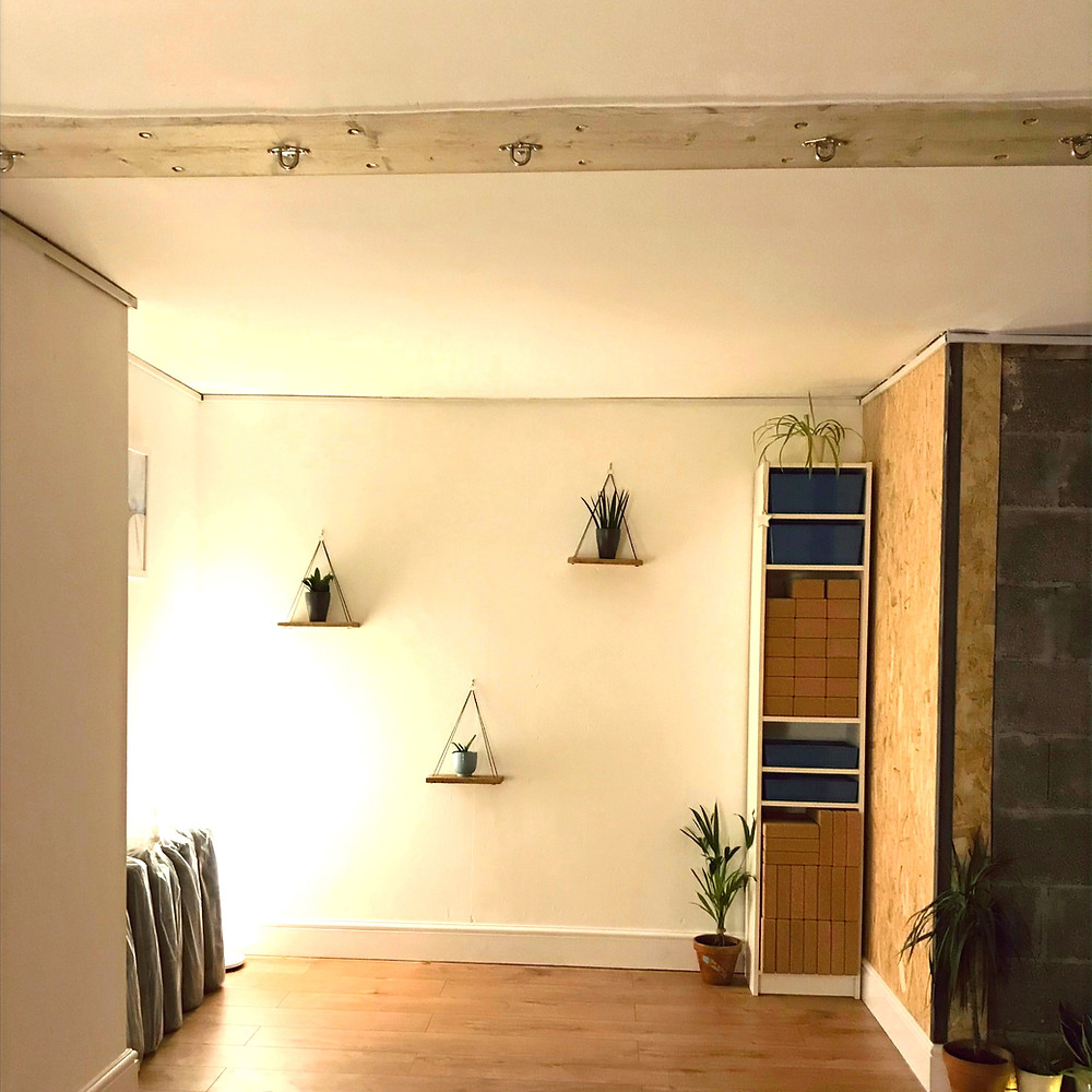 Internal view of the yoga studio in Clifton Bristol