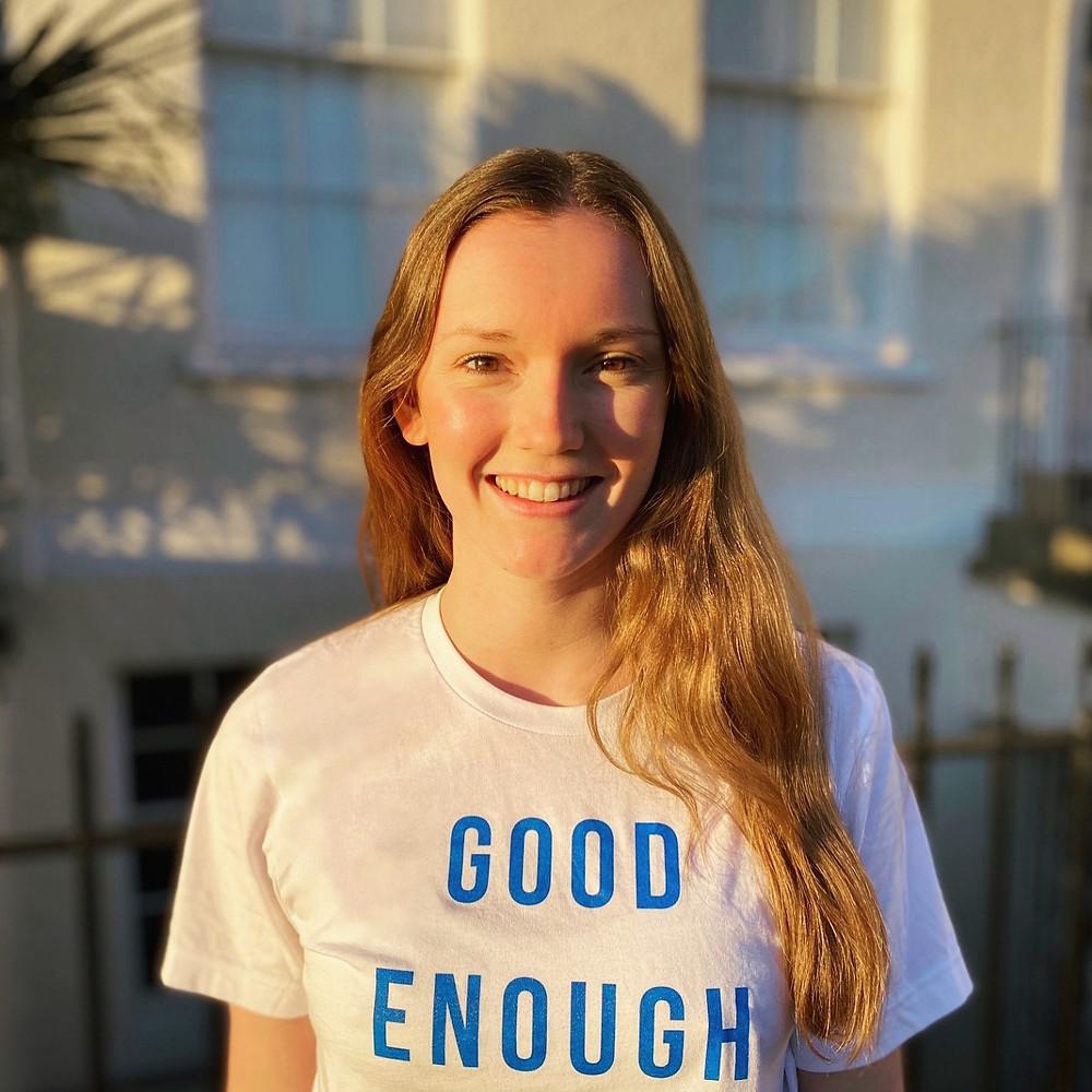 Bristol based vinyasa yoga teacher smiling in Clifton
