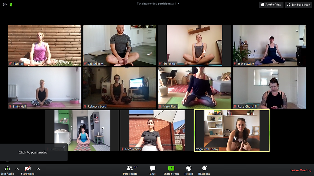 Online yoga class with Clifton Sky Yoga