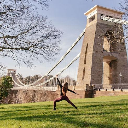 Yoga at Clifton Suspension Bridge