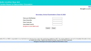 CBSE 10th Result 2020 declared at cbseresults.nic.in, you can find here