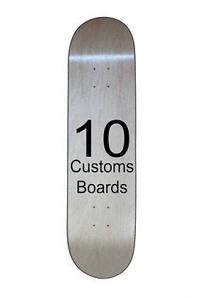10 Customs skateboards
