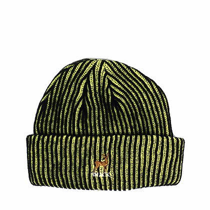 BUCK BEANIE BLACK/YELLOW