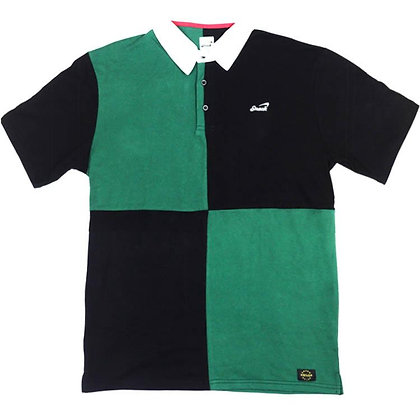ALIVE PANEL POLO green/black