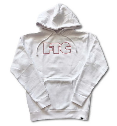 FTC OG OUTLINE HOODED SWEATSHIRT white