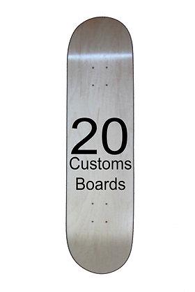 20 Customs skateboards