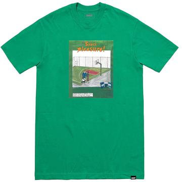 PLEASURE TEE green