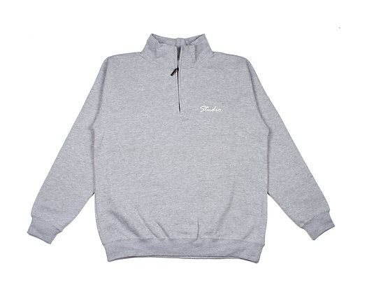 Relax - Quarter Zip Sweatshirt - Heather Grey