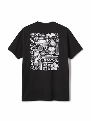 FTC FOR THE CITY TEE BY MIKE GIANT BLACK