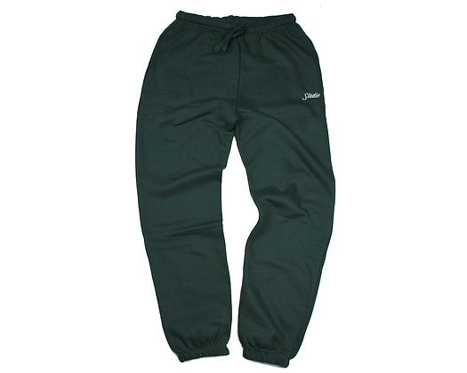 Small Script - Sweatpants - Forest Green