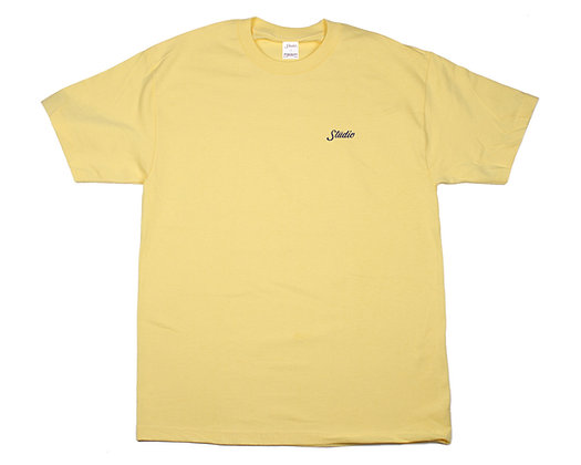 Small Script - Tee - Butter Yellow