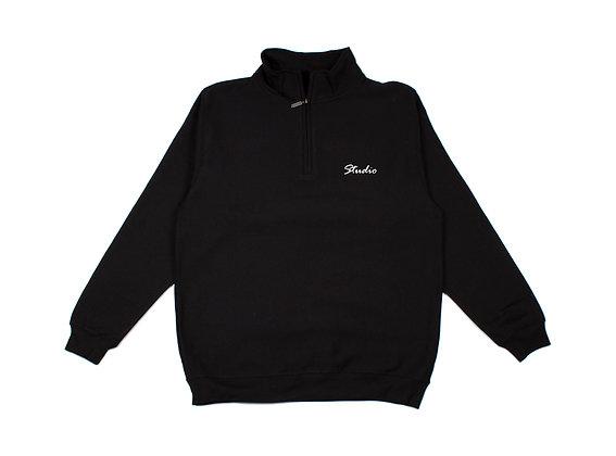 Relax - Quarter Zip Sweatshirt - Black