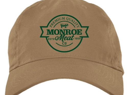Tan and Green Cotton Adjustable Hat