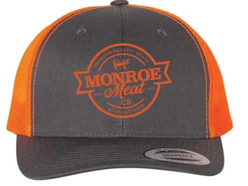 Gray and Hunter Orange Mesh Back Hat