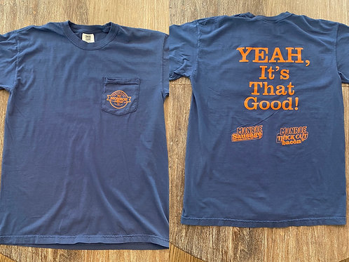 Navy and Orange Pocket T-Shirt
