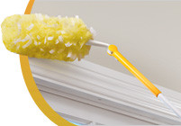 Tip:  Use Swiffer Duster Extender to Clean Baseboards