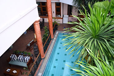 Enjoy this Jakarta Bed and Breakfasts lovely swimming pool.