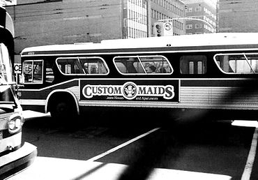 TTC Transit Ad for CUSTOM MAID SERVICES TORONTO in the '90s