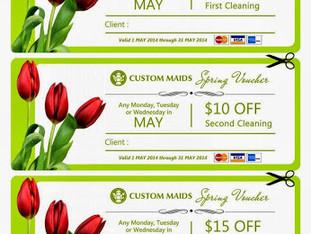 Custom Maids Spring Vouchers