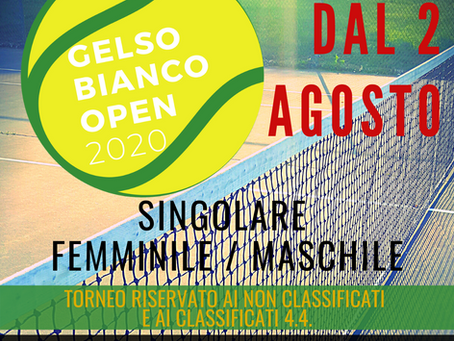 GELSO BIANCO OPEN 2020