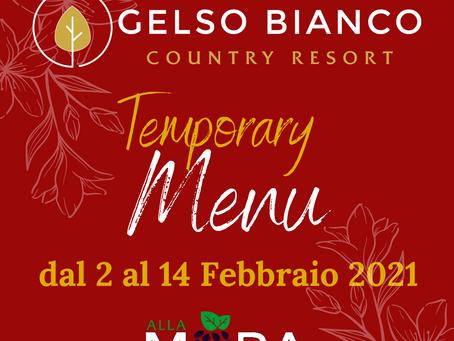 RIAPERTO IL RISTORANTE ALLA MORA! - ecco i temporary menu