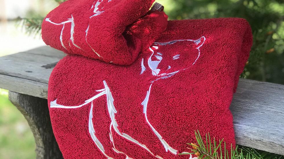 Coppia asciugamani orso