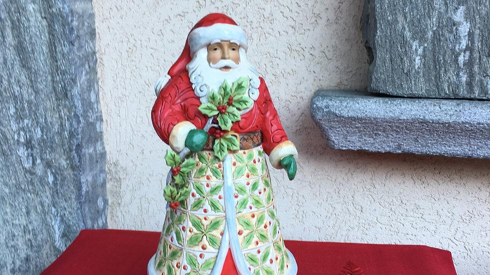 Babbo Natale con agrifogli