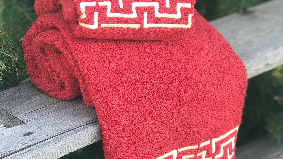 Coppia asciugamani greca