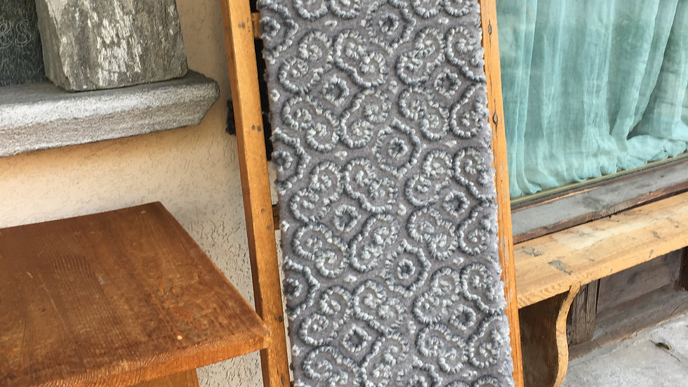 Plaid in lana cotta grigio