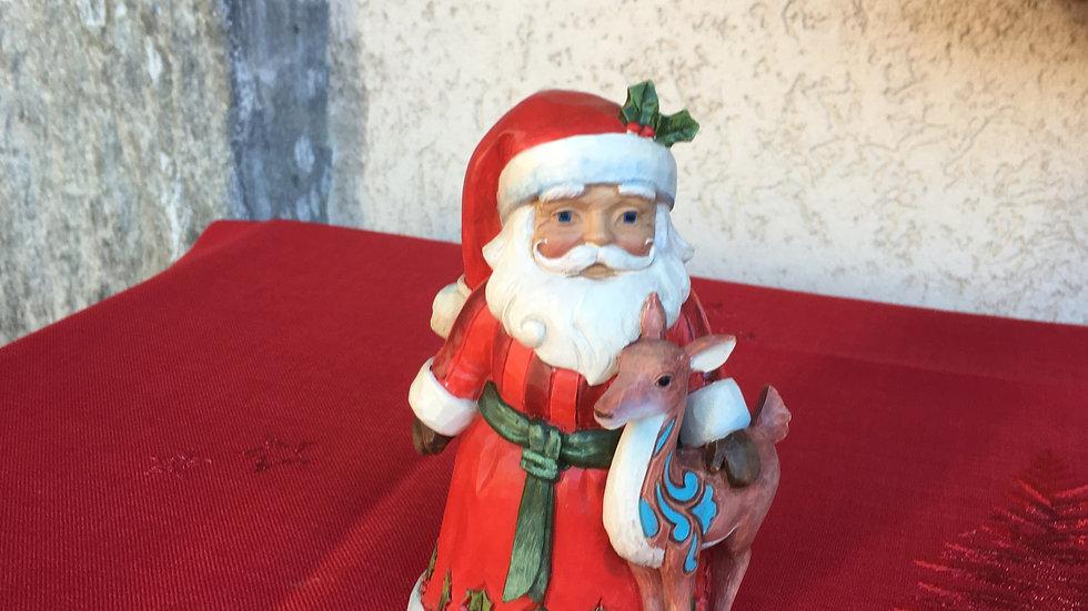 Babbo Natale con cerbiatto
